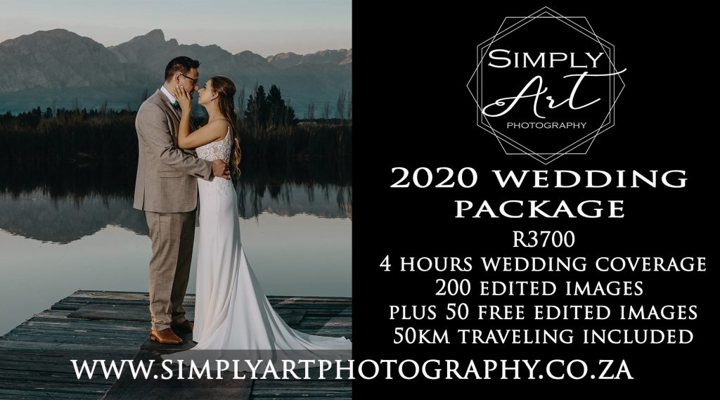2020 Wedding photography LOCKDOWN deal. Only R3700 under R4000 photography special. Garden route and Klein karoo wedding photographer